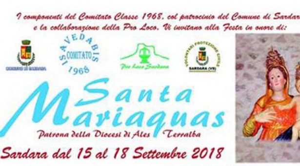 FESTA DI SANTA MARIAQUAS – SARDARA – 15-18 SETTEMBRE 2018