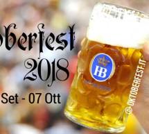 OKTOBERFEST 2018 – MONACO DI BAVIERA- 22 SETTEMBRE – 7 OTTOBRE 2018