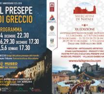 MERCATINI DI NATALE 2018: GRECCIO E IL PRESEPE VIVENTE