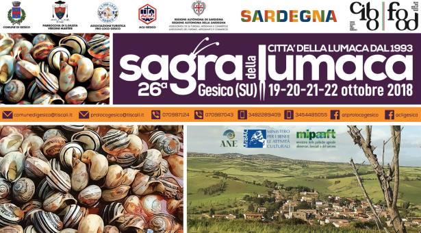 SAGRA DELLA LUMACA- GESICO – 19-22 OTTOBRE 2018