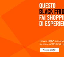 BLACK FRIDAY EASYJET – 100.000 POSTI COL 30% SCONTO RISPETTO AL PREZZO DELL'ANNO SCORSO