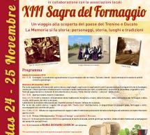 SAGRA DEL FORMAGGIO – MANDAS – DOMENICA 25 NOVEMBRE 2018
