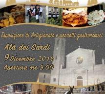 NADALE IN CARRERA – ALA' DEI SARDI – DOMENICA 9 DICEMBRE 2018