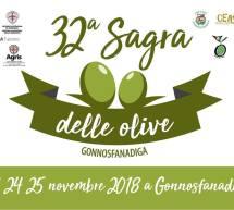 32° SAGRA DELLE OLIVE – GONNOSFANADIGA – 23-24-25 NOVEMBRE 2018