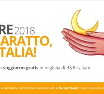 SETTIMANA DEL BARATTO 2018 – DORMI GRATIS NEI B&B D'ITALIA, IN SARDEGNA E NEL MONDO