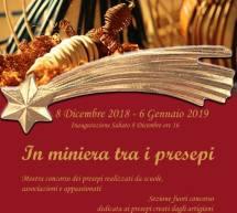 IN MINIERA TRA I PRESEPI – CARBONIA – 8 DICEMBRE- 6 GENNAIO 2019