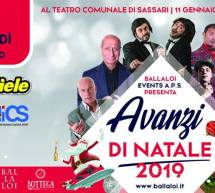 AVANZI DI NATALE – TEATRO COMUNALE – SASSARI – VENERDI 11 GENNAIO 2019