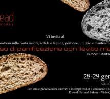 CORSO DI PANIFICAZIONE CON LIEVITO MADRE – PBREAD- CAGLIARI – 28-29 GENNAIO 2019