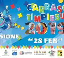 CARRASCIALI TIMPIESU – TEMPIO PAUSANIA – 28 FEBBRAIO – 5 MARZO 2019