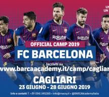 BARCA ACADEMY CAMP – CAGLIARI – 23-28 GIUGNO 2019