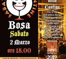 SABATO DELLE CANTINE – BOSA – SABATO 2 MARZO 2019