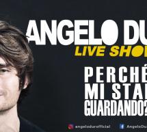 ANGELO DURO LIVE SHOW – AUDITORIUM CONSERVATORIO – CAGLIARI – SABATO 30 MARZO 2019