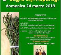 8° SAGRA DEGLI ASPARAGI  -VILLANOVA TRUSCHEDU – DOMENICA 24 MARZO 2019