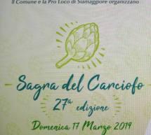 SAGRA DEL CARCIOFO – SIAMAGGIORE – DOMENICA 17 MARZO 2019