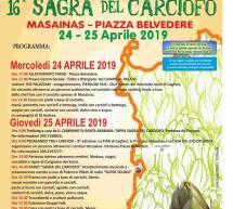 16° SAGRA DEL CARCIOFO – MASAINAS – 24-25 APRILE 2019
