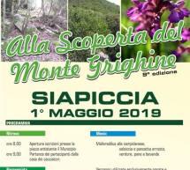 ALLA SCOPERTA DEL MONTE GRIGHINE – SIAPICCIA- MERCOLEDI 1 MAGGIO 2019