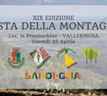 FESTA DELLA MONTAGNA – VALLERMOSA – GIOVEDI 25 APRILE 2019