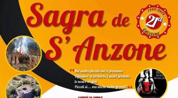 SAGRA DE S'ANZONE – BIDONI' – LUNEDI 22 APRILE 2019