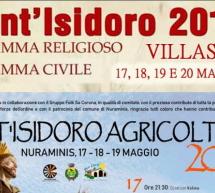 FESTEGGIAMENTI PER SANT'ISIDORO – NURAMINIS & VILLASOR – 17-20 MAGGIO 2019