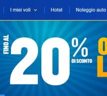 OFFERTA LAMPO – FINO AL 20% SCONTO SU TUTTE LE ROTTE CON RYANAIR A PARTIRE DA 4,99 €