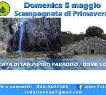 SCAMPAGNATA DI PRIMAVERA ALLA CASCATA DI SAN PIETRO E SA DOME S'ORCU – DOMENICA 5 MAGGIO 2019