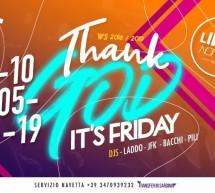 THANK GOD IT'S FRIDAY – LINEA NOTTURNA- CAGLIARI – VENERDI 10 MAGGIO 2019