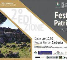 FESTA DEL PATRIMONIO – CARBONIA – 18-19 MAGGIO 2019