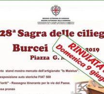 SAGRA DELLE CILIEGIE – BURCEI -DOMENICA 9 GIUGNO 2019
