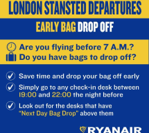 RYANAIR ANTICIPA IL DROP OFF A LONDRA STANSTED