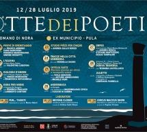 XXXVII FESTIVAL LA NOTTE DEI POETI – NORA & PULA – 12-28 LUGLIO 2019
