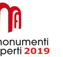 MONUMENTI APERTI 2019 – 7° WEEKEND- 8-9 GIUGNO 2019