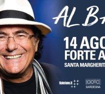 ALBANO IN CONCERTO – FORTE ARENA – SANTA MARGHERITA DI PULA – MERCOLEDI 14 AGOSTO 2019