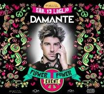 FLOWER POWER EVENT – ANDREA DAMANTE – OPERA BEACH ARENA -QUARTU SANT'ELENA – SABATO 13 LUGLIO 2019