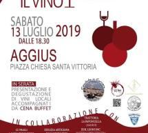 DEGUSTANDO IL VINO – AGGIUS – SABATO 13 LUGLIO 2019