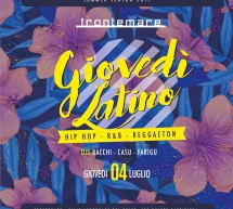 GIOVEDI LATINO – FRONTEMARE – QUARTU SANT'ELENA- GIOVEDI 4 LUGLIO 2019
