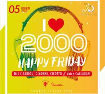 HAPPY FRIDAY- I LOVE 2000 – JINNY BEACH -QUARTU SANT'ELENA- VENERDI 5 LUGLIO 2019