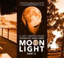 MOON LIGHT – IS CANALEDDUS BEACH CLUB – MARI PINTAU – QUARTU SANT'ELENA- SABATO 6 LUGLIO 2019