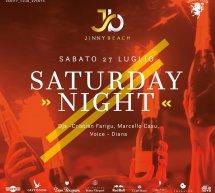 SATURDAY NIGHT – JINNY BEACH – QUARTU SANT'ELENA – SABATO 27 LUGLIO 2019