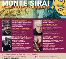 NOTTI A MONTE SIRAI – CARBONIA – 26 -28 LUGLIO; 2-4 AGOSTO 2019