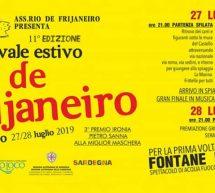 CARNEVALE ESTIVO – RIO DE FRIJANEIRO – CASTELSARDO – 27-28 LUGLIO 2019