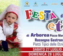 FESTA DELLE ETNIE -ARBOREA – 27-28 LUGLIO 2019