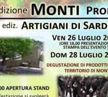 MONTI PRODUCE & ARTIGIANI DI SARDEGNA – DOMENICA 28 LUGLIO 2019