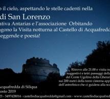 LA NOTTE DI SAN LORENZO AL CASTELLO DI ACQUAFREDDA-  SILIQUA – SABATO 10 AGOSTO 2019