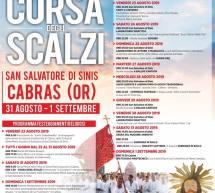 CORSA DEGLI SCALZI – CABRAS – 31 AGOSTO- 1 SETTEMBRE 2019