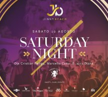 SATURDAY NIGHT – JINNY BEACH – QUARTU SANT'ELENA – SABATO 10 AGOSTO 2019