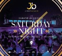 SATURDAY NIGHT – JINNY BEACH – QUARTU SANT'ELENA – SABATO 31 AGOSTO 2019