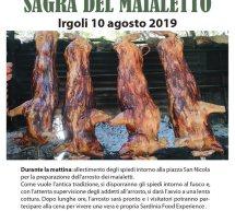 SAGRA DEL MAIALETTO -IRGOLI – DOMENICA 10 AGOSTO 2019