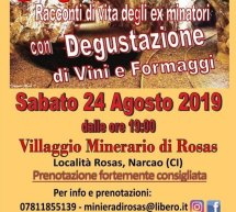 ROSSO IN MINIERA – MINIERA ROSAS- NARCAO – SABATO 24 AGOSTO 2019