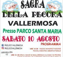SAGRA DELLA PECORA – VALLERMOSA – SABATO 10 AGOSTO 2019