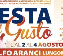 FESTA DEL GUSTO – GOLFO ARANCI – 2-4 AGOSTO 2019